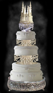 castle swarovski wedding cake topper ideas