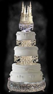 castle swarovski wedding cake topper ideas