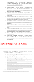 SSC GD medical exam instructions and document list
