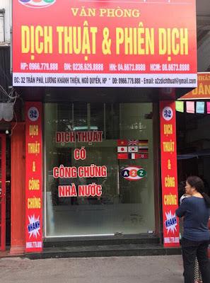 Công ty dịch thuật tại quận Đồ Sơn - Hải Phòng chóng vánh chuẩn xác uy tín chất lượng