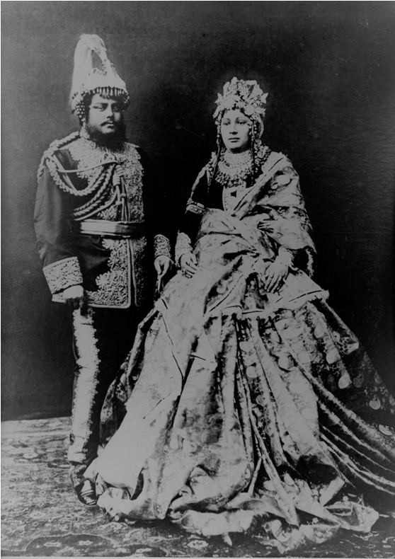 Rana couple in court dress