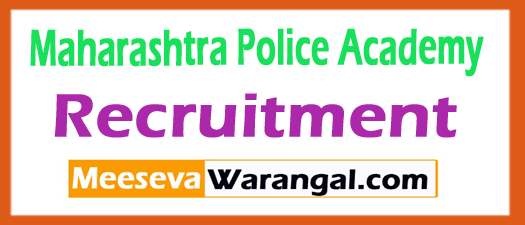 Maharashtra Police Academy Recruitment