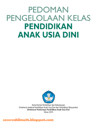 Download Dokumen Pedoman Pengelolaan Kelas Pendidikan Anak Usia Dini (PAUD)