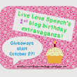 My 1st Blog Birthday EXTRAVAGANZA: A week of GIVEAWAYS!