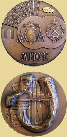 Medalla de la celebración del Cartel de Minas en Oviedo, 1992