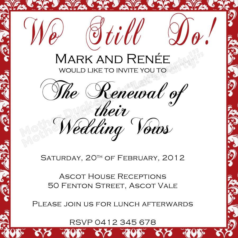 50th Renewal Wedding Invitations  Party Invitations Ideas