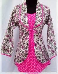 Baju Batik Kantor Wanita Terbaru