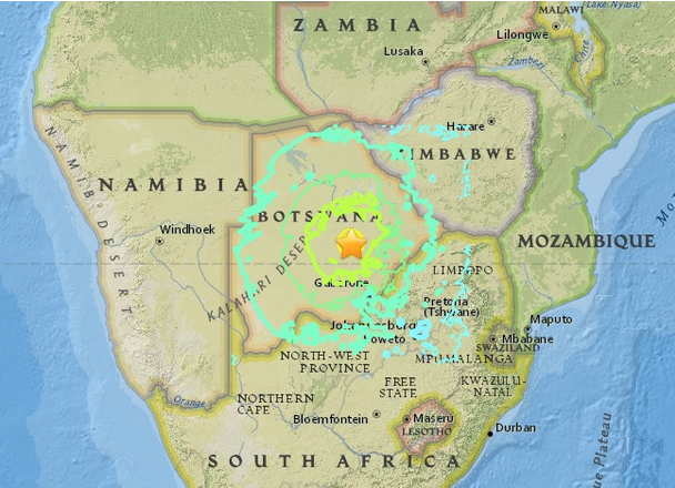 Earthquake Prediction: Botswana 6.5-magnitude quake shakes ...