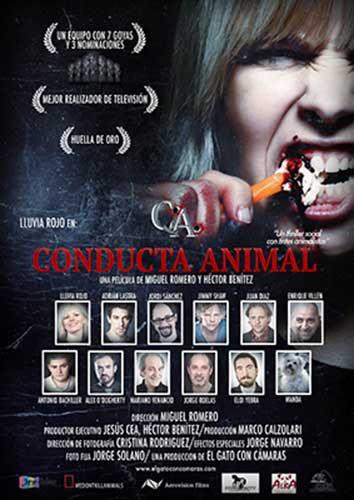 Cartel de la película COnducta Animal, dirigida por Miguel Romero.