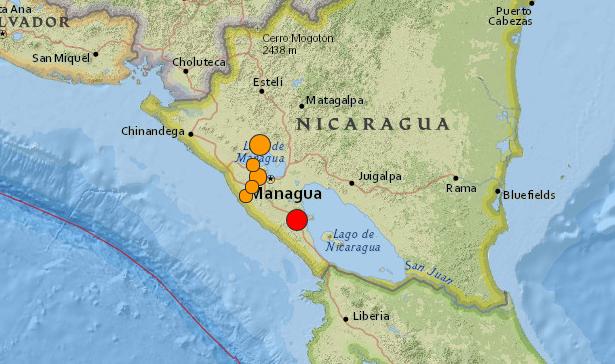 SISMO DE 6,7 GRADOS SACUDE NICARAGUA, 11 de Abril 2014