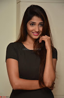 Priya Vadlamani super cute in tight brown dress at Stone Media Films production No 1 movie announcement 013.jpg