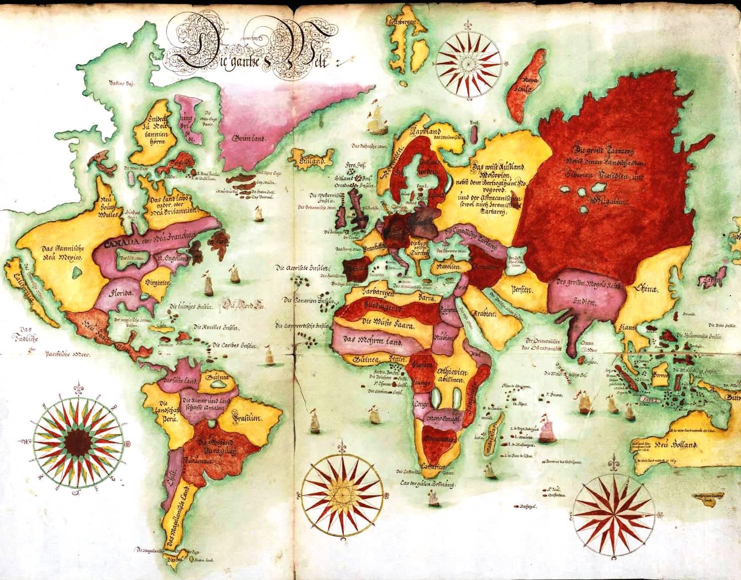 World map (1675)
