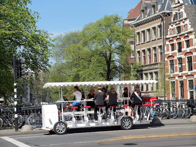 Beer-bike in Amsterdam