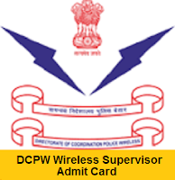 DCPW Wireless Supervisor Admit Card