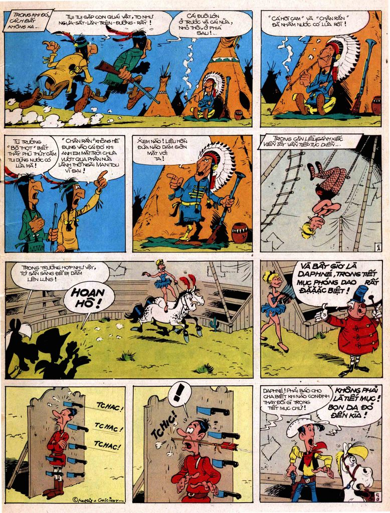 Lucky Luke tap 17 - ganh xiec mien vien tay trang 5