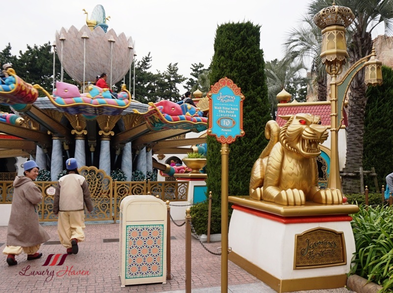 disneysea arabian coast jasmine flying carpets review