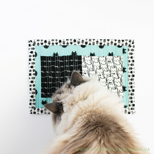 Cats in Boxes | Modern Quilt | Shannon Fraser Designs | Camelot Fabrics | Meow Collection