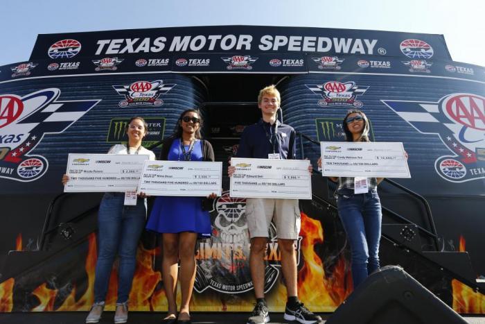 Nascar race mom nascar chevrolet diversity scholarship for Texas motor speedway driving experience