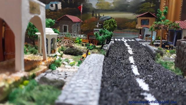 diorama asfalt yol