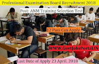 Madhya Pradesh Professional Examination Board Recruitment 2018-740 ANM Training Selection Test