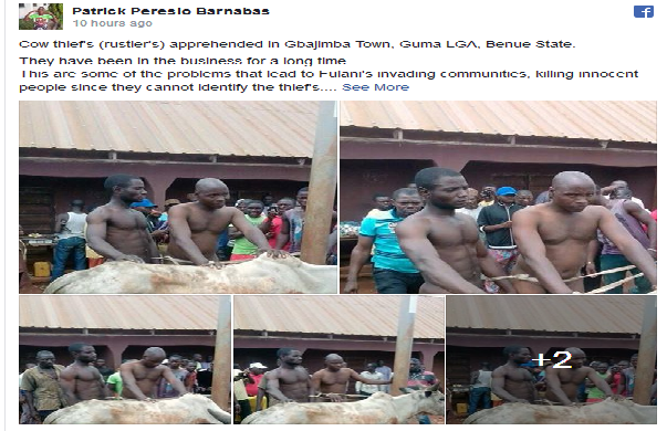 N*ked Photos Of Cow Thieves Who prompted Herdsmen Attacks