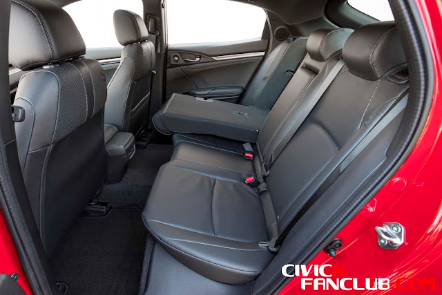 Honda Civic 10th Gen 2017 Interior Pictures - The Seats of Honda Civic X 2017