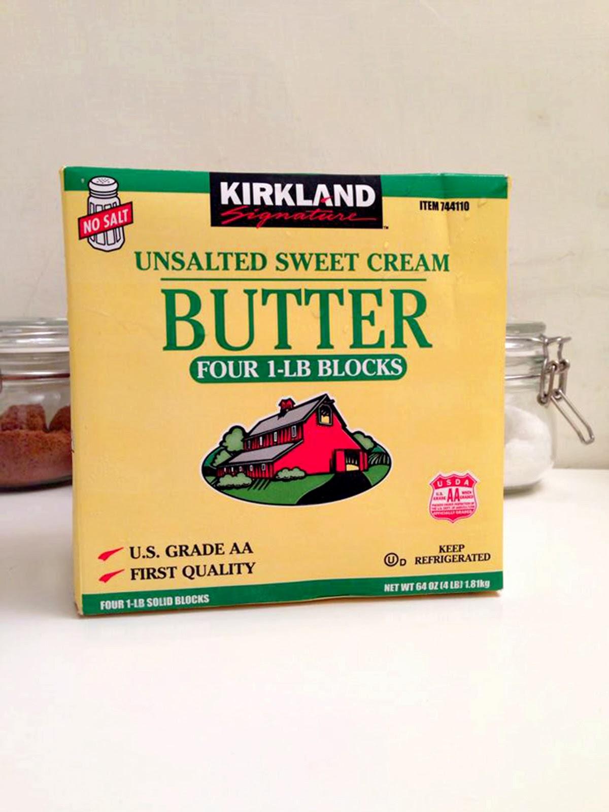 Summery Sweet : Costco Kirkland Signature Unsalted Butter │ 好市多自有品牌無鹽奶油