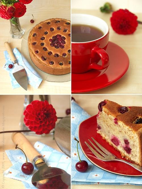 pudding wiśniowy na kruchym spodzie