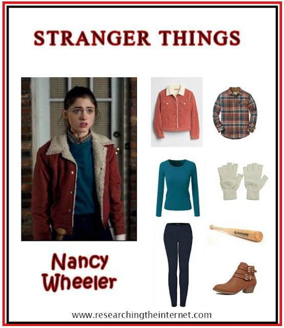 diy stranger things costume - nancy - stranger things outfits - stranger things cosplay