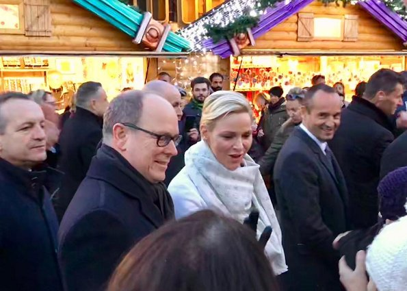 Prince Albert, Princess Charlene attended the opening of Christmas Market 2017 (Le Village de Noël)