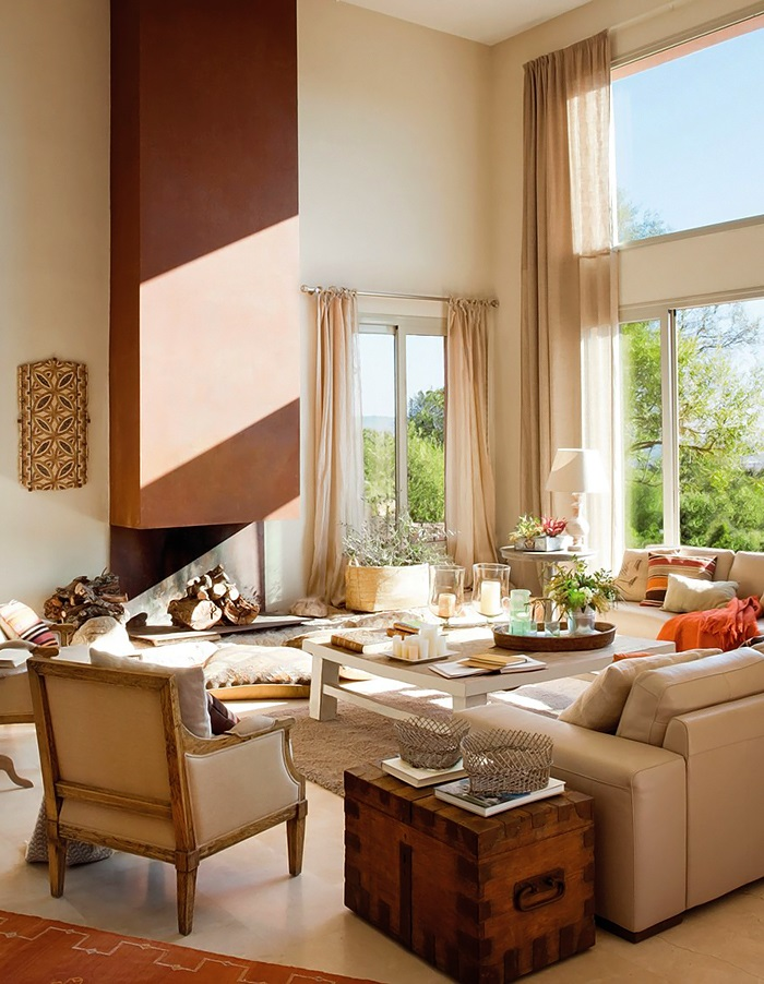Lovely deco un grand salon accueillant - Deco grand salon ...