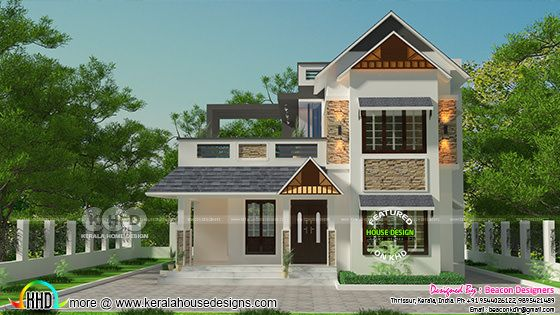 Mixed roof 3 bedroom 1714 sq-ft house