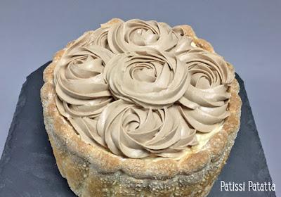 dessert de pâques, charlotte de pâques, charlotte au caramel beurre salé, charlotte chocolat au lait