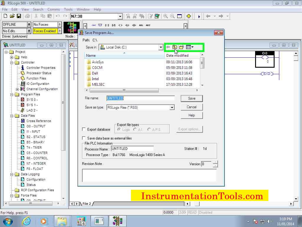 rslogix 500 program files