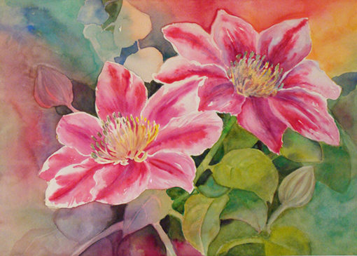 Rita vaselli watercolors dipingere fiori ad acquarello for Quadri semplici