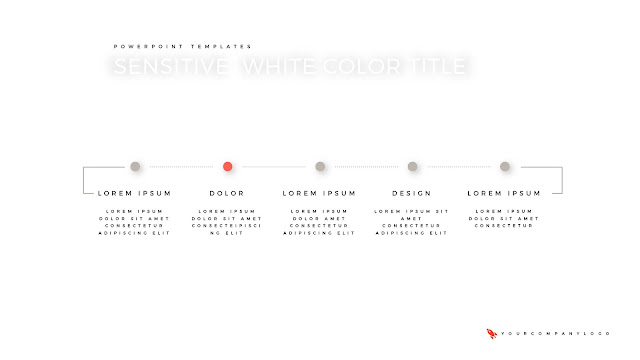 Table of Contents of Premium PowerPoint Template with Whit Title