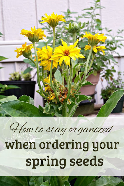 How to stay organized when ordering your spring seeds.