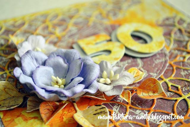detale kartki -kwiaty, wzór, papiery do scrapbookingu