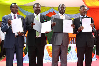 NASA party officials have signed a deal today that will make them united. PHOTO | George Charo
