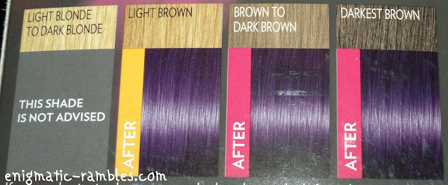 review-L'Oreal-Paris-Feria-Preference-Dye-P38-Violet-Vendetta-colour-chart