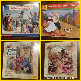 Children's Books, history books, Colonial America,