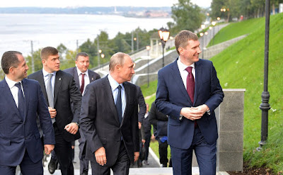 Vladimir Putin toured the embankment of the Kama River and reviewed plans for the modernisation of the urban space.