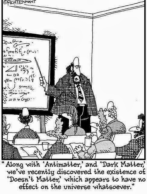 Science Anti Dark Don't Matter Class ~ Funny Joke Pictures