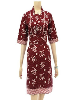 Baju Batik Modern Long Dress