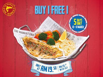 The Manhattan FISH MARKET Malaysia Buy 1 Free 1 Mediterranean Baked Fish