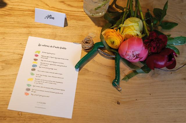 taller flores barcelona floristeria boda wedding mexican decor flowers