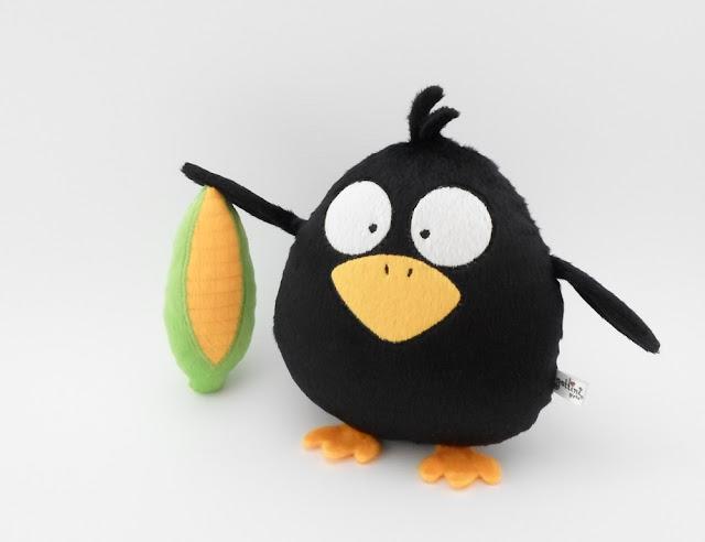 Black Raven boy stuff Plushies animals plush cute toy gift birthday halloween day christmas nursery decor heart child baby girl guyuminos