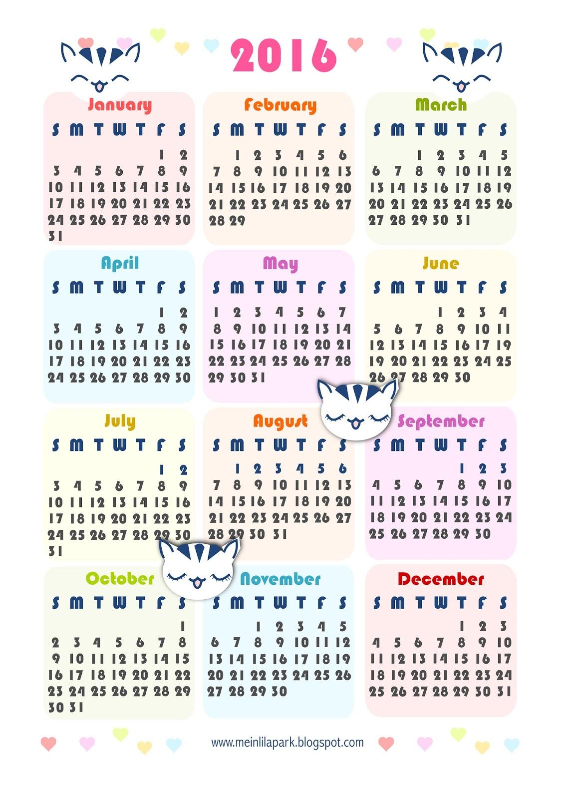 Diy Calendar Singapore : Free printable kawaii calendar ausdruckbarer