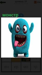1100 слов игрушка с открытом ртом монстр 37 уровень