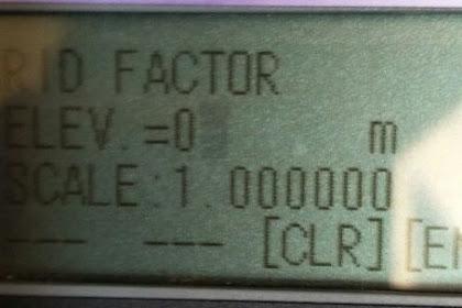 Cara Setting Grid factor Total station topcon